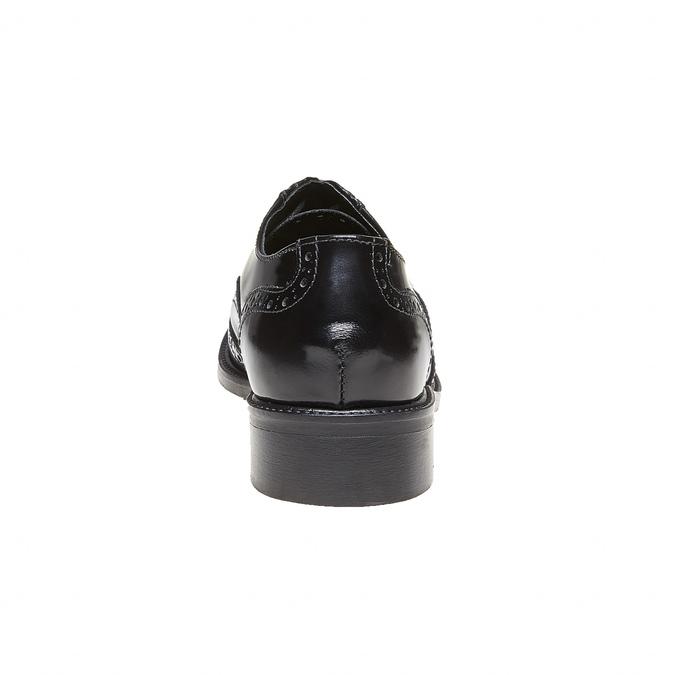 Chaussure lacée en cuir pour femme bata, Noir, 524-6222 - 17
