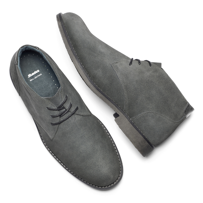 Chaussures Homme bata, Gris, 843-2380 - 19