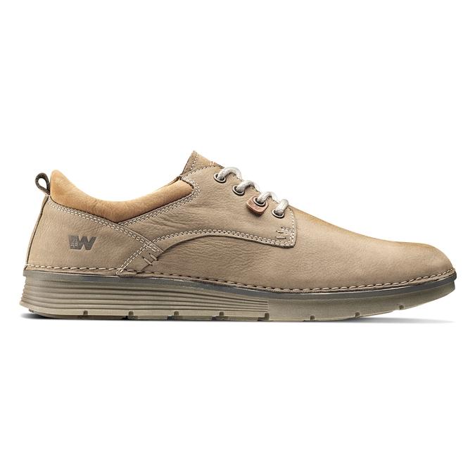 Chaussures lacées en cuir weinbrenner, Jaune, 846-8436 - 26
