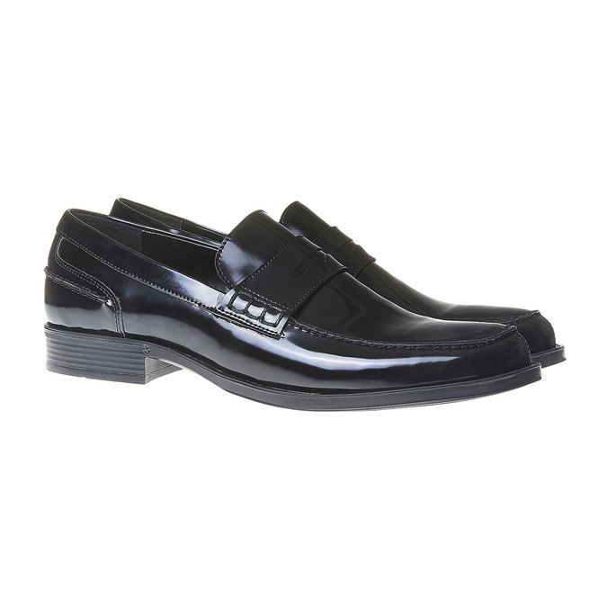 Penny Loafers homme bata, Noir, 811-6150 - 26