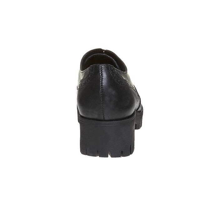 Chaussure lacée en cuir pour femme bata, Noir, 524-6165 - 17