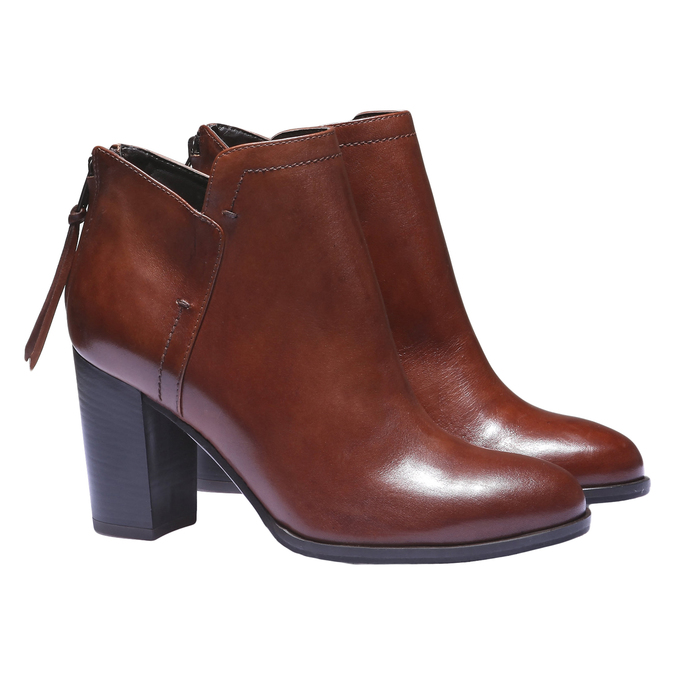 Bottines en cuir bata, Brun, 794-3576 - 26