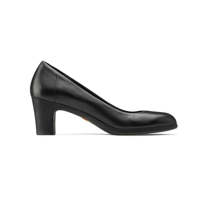 Escarpin en cuir noir flexible, Noir, 624-6393 - 26