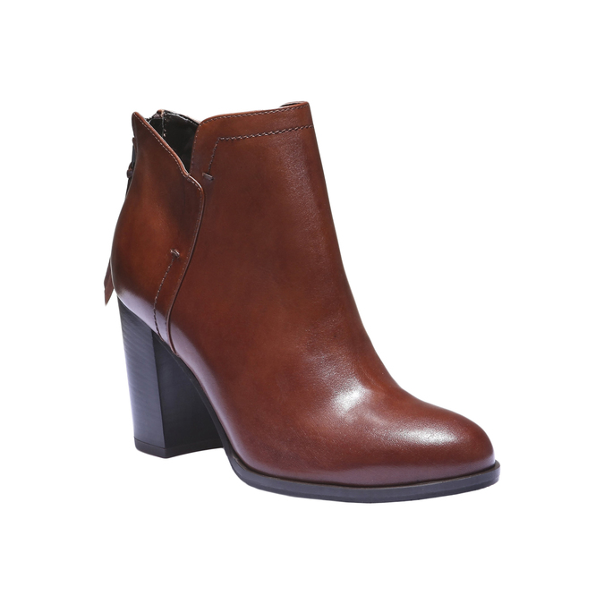 Bottines en cuir bata, Brun, 794-3576 - 13