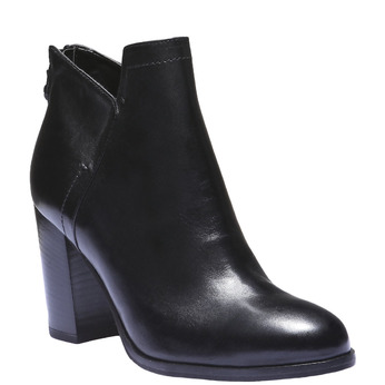 Bottines en cuir bata, Noir, 794-6576 - 13