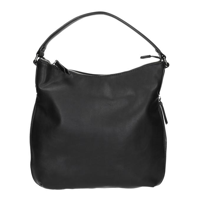 Sac Hobo avec zip décoratif bata, Noir, 961-6609 - 26