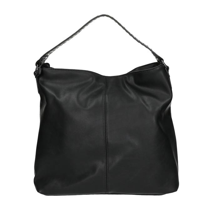 Sac à main femme avec zips bata, Noir, 961-6127 - 19
