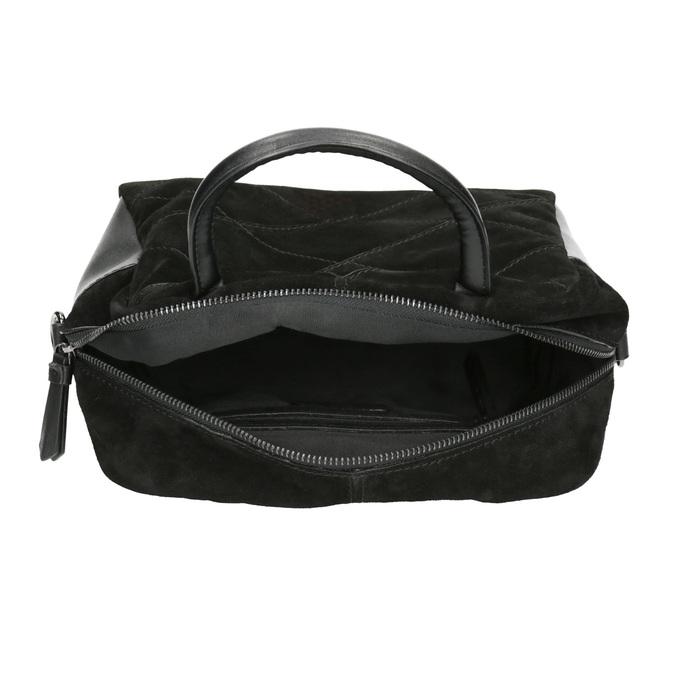 Petit sac bandoulière en cuir bata, Noir, 963-6133 - 15