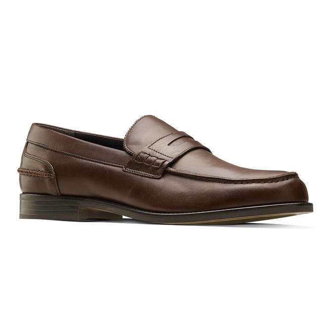 Loafer en cuir homme bata, Brun, 814-4128 - 13