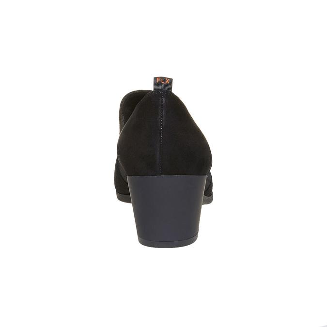 Chaussure à talon en cuir flexible, Noir, 613-6111 - 17