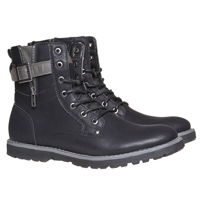 Chaussure montante homme bata, Noir, 891-6237 - 26
