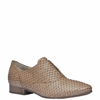 Chaussure lacée en cuir pour femme bata, Brun, 514-8212 - 13