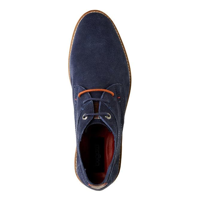 Chaussure lacée montante en cuir bugatti, Violet, 823-9542 - 19