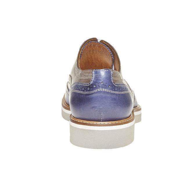 Chaussure lacée en cuir à semelle épaisse shoemaker, Violet, 824-9776 - 17