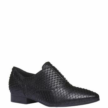 Chaussure lacée en cuir pour femme bata, Noir, 514-6212 - 13