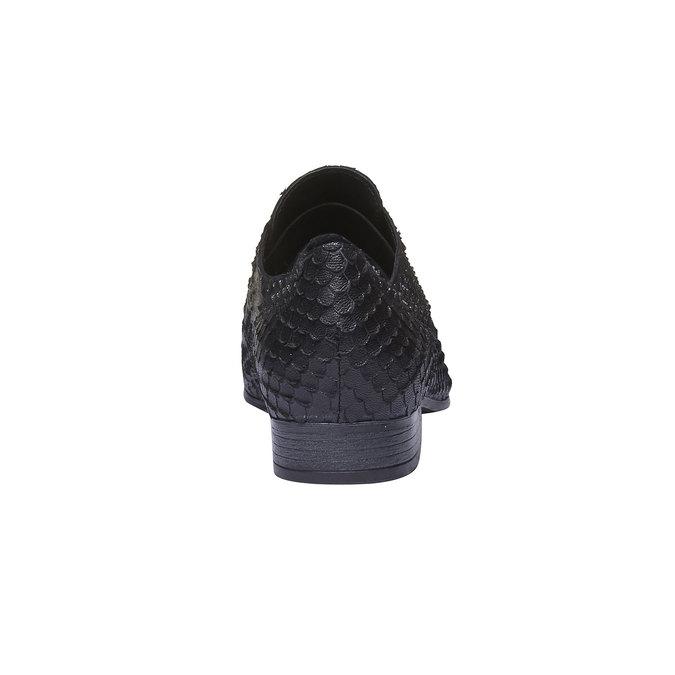 Chaussure lacée en cuir pour femme bata, Noir, 514-6212 - 17