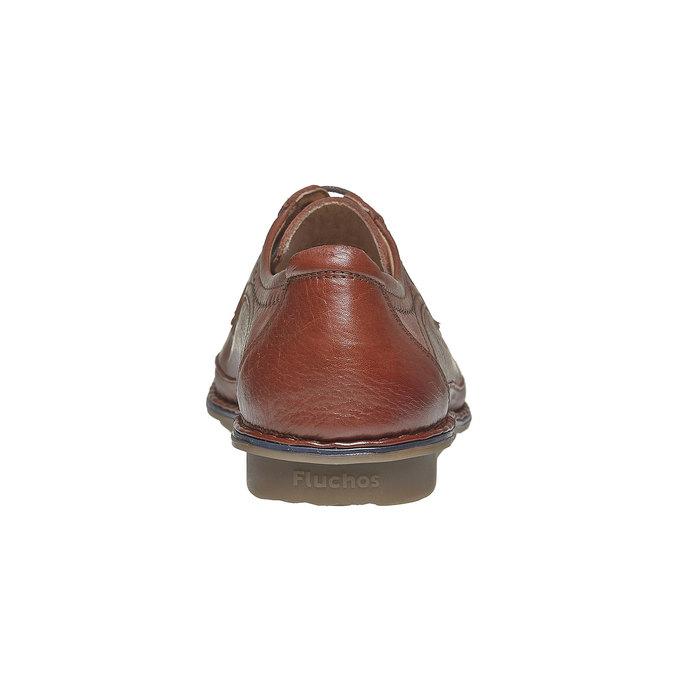 Chaussure lacée décontractée en cuir fluchos, Brun, 824-3866 - 17