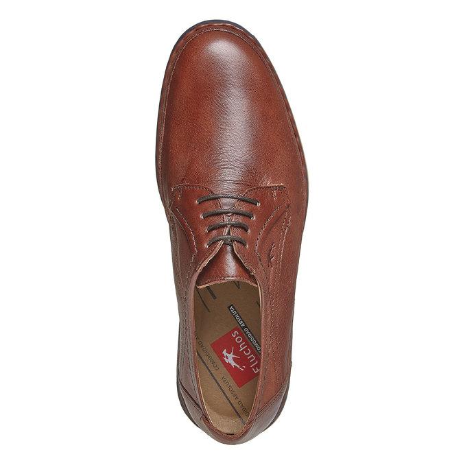 Chaussure lacée décontractée en cuir fluchos, Brun, 824-3866 - 19