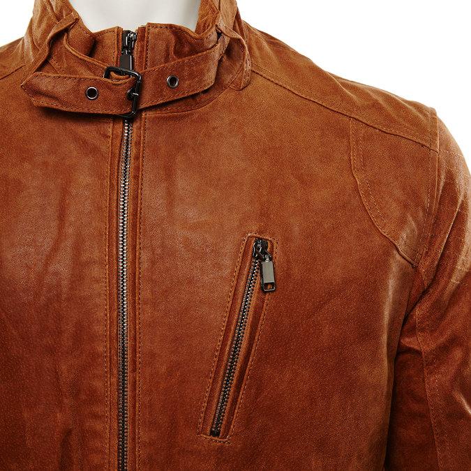 Veste en cuir pour homme bata, Brun, 973-3108 - 16