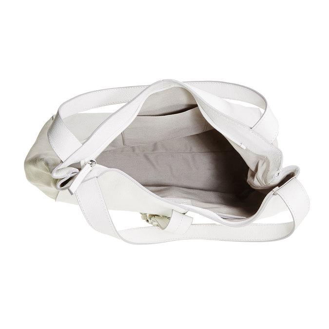 Sac à main en cuir avec pampille bata, Blanc, 964-1179 - 15