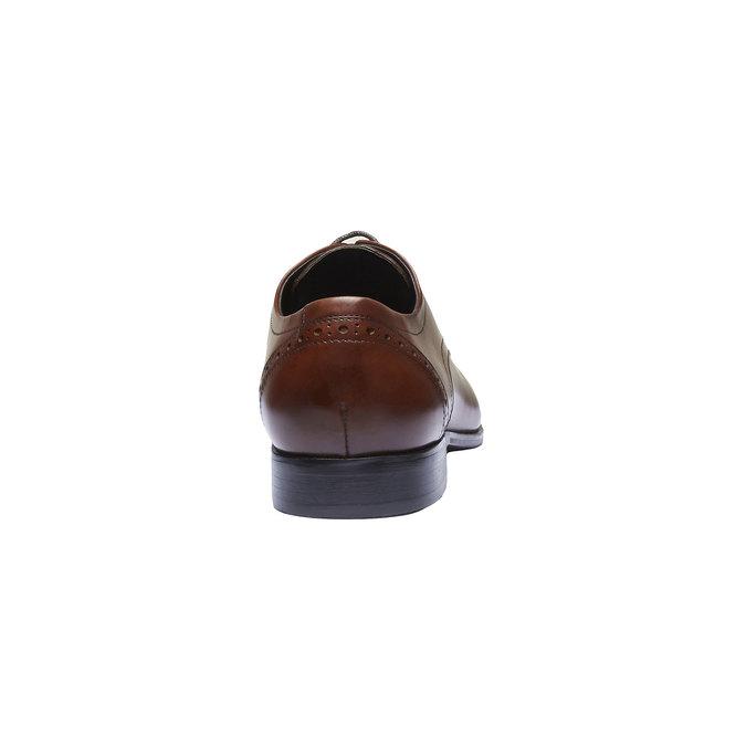 Chaussure lacée Derby en cuir avec décoration bata, Brun, 824-4274 - 17