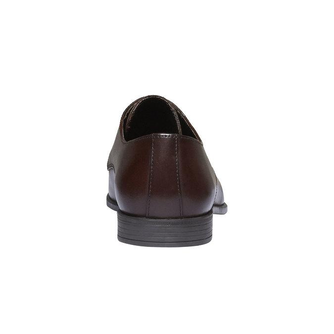 Chaussure lacée Derby en cuir bata, Brun, 824-4816 - 17