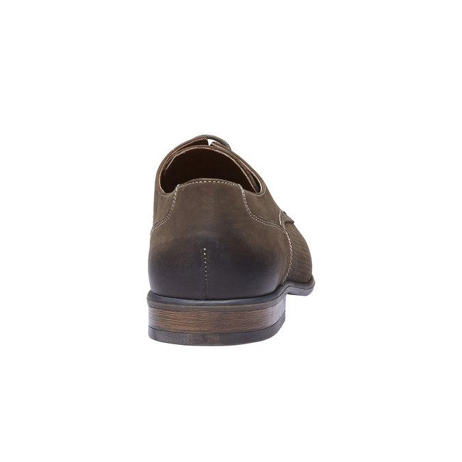 Chaussure lacée en cuir perforé pour homme bata, Brun, 826-4832 - 17