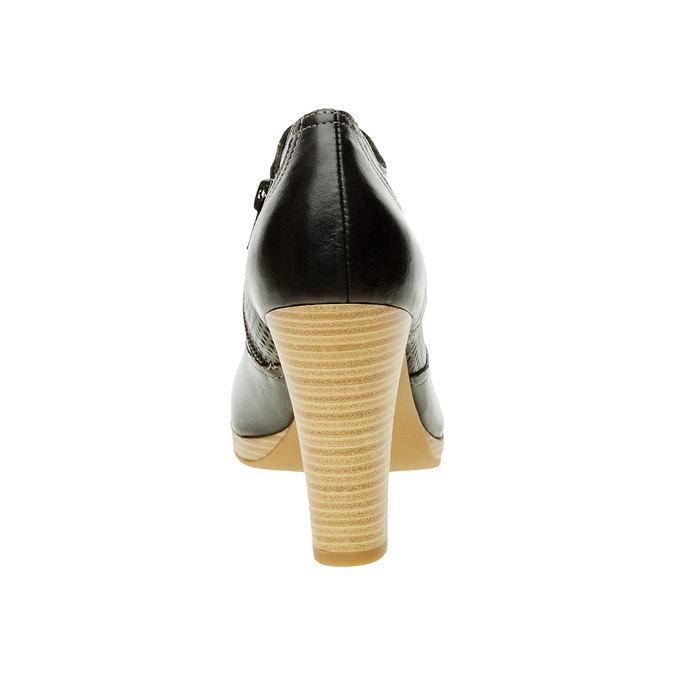 Chaussure en cuir à talon bata, Noir, 724-6932 - 17