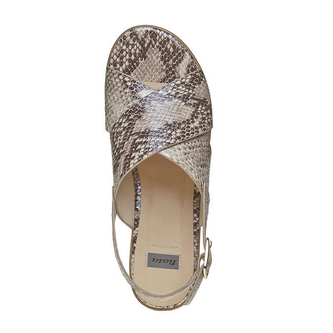 Sandale à semelle épaisse bata, Jaune, 661-8144 - 19