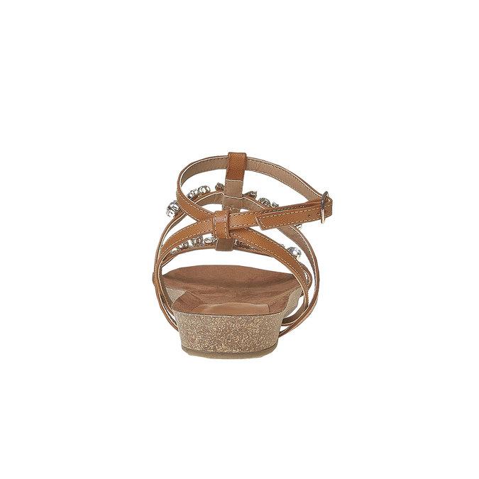 Sandale femme avec petites pierres bata, Brun, 561-3380 - 17
