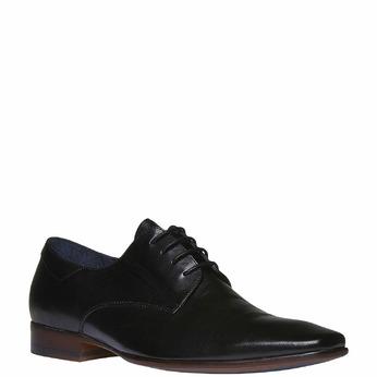 Chaussure lacée Derby en cuir bata, Noir, 824-6536 - 13
