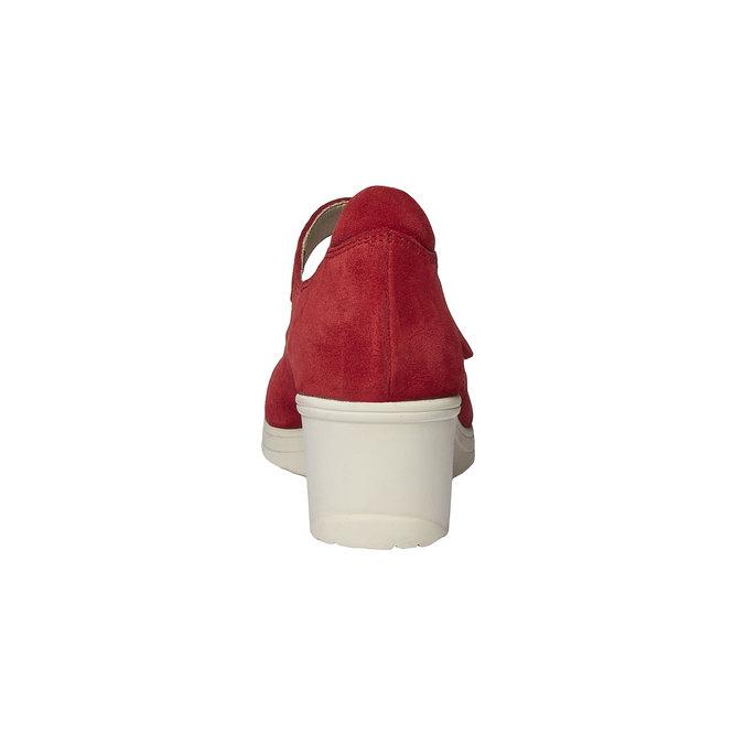 Escarpin en cuir à talon compensé bata-touch-me, Rouge, 623-5392 - 17