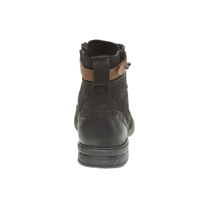 Bottine en cuir bata, Noir, 894-6165 - 17
