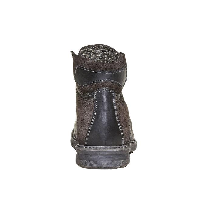 Chaussure montante en cuir pour homme bata, Noir, 896-6687 - 17