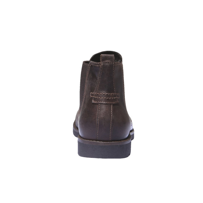 Bottines en cuir de style Chelsea bata, Brun, 894-4197 - 17