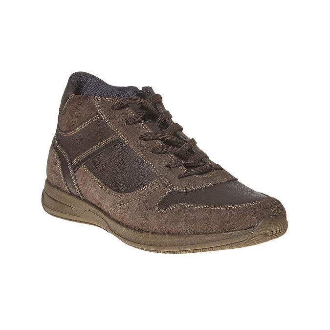 Tennis en cuir pour homme bata, Brun, 894-4697 - 13
