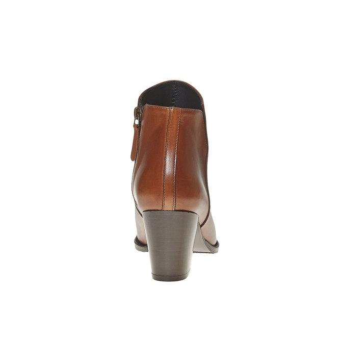 Bottine en cuir à talon bata, Brun, 794-3597 - 17