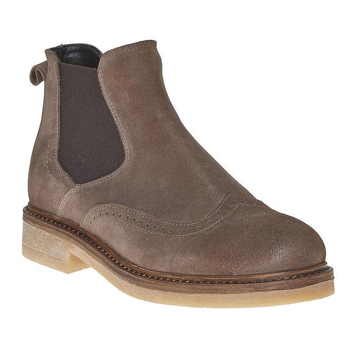 Chelsea Boots en cuir chamoisé bata, Gris, 593-2122 - 13