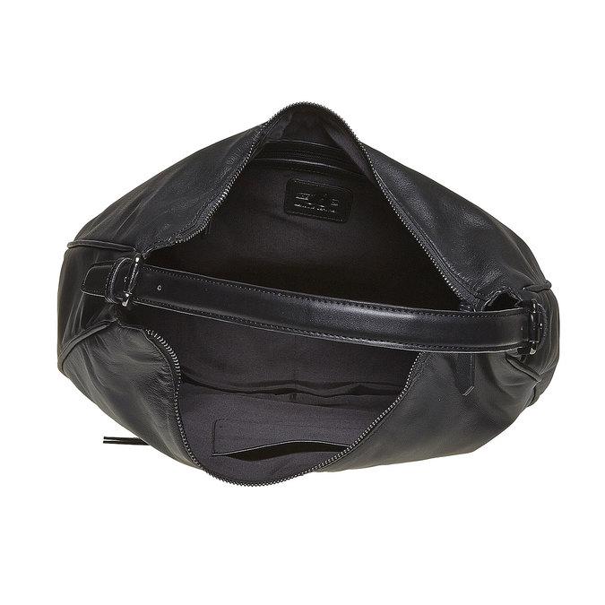 Sac à main en cuir dans le style Hobo bata, Noir, 964-6249 - 15