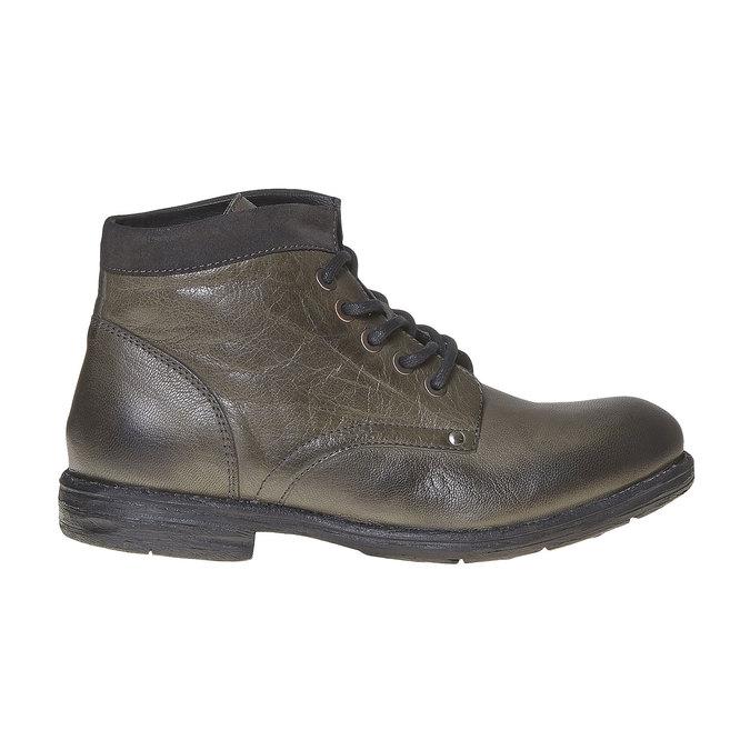 Chaussure montante en cuir pour homme bata, Gris, 894-2704 - 15