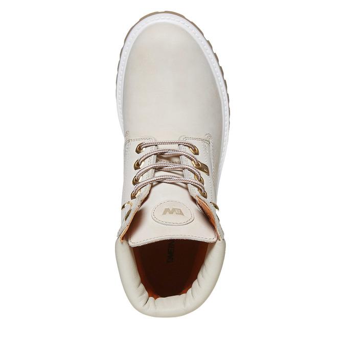 Chaussures en cuir à semelle tracteur weinbrenner, Blanc, 596-1546 - 19