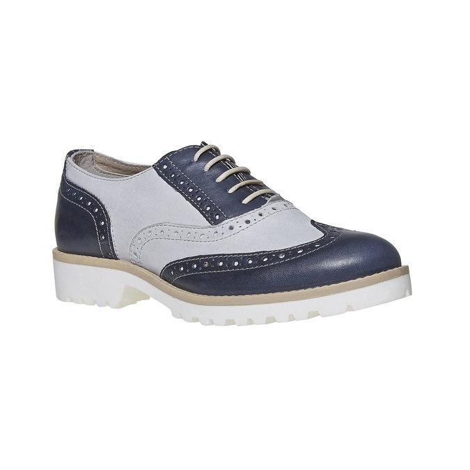 Chaussure Oxford en cuir pour femme bata, Violet, 524-9128 - 13