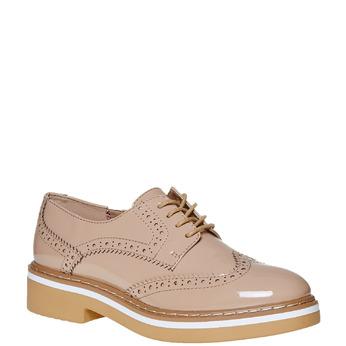 Chaussure vernie avec les motifs Brogue bata, Jaune, 521-8437 - 13