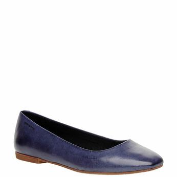Ballerine en cuir pour femme vagabond, Violet, 514-9101 - 13