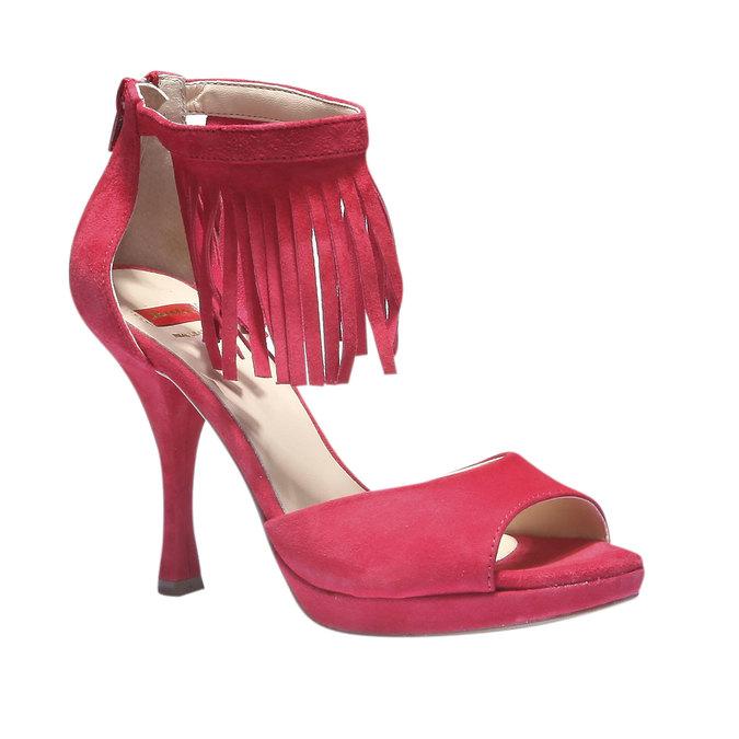 Sandale à franges en cuir bata, Rouge, 763-5153 - 13