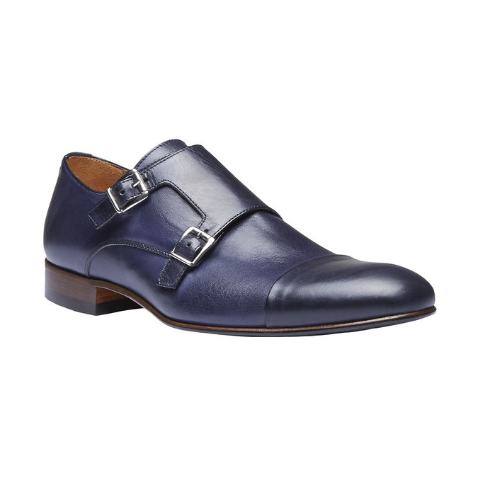 Monk Shoes en cuir pour homme shoemaker, Violet, 814-9144 - 13
