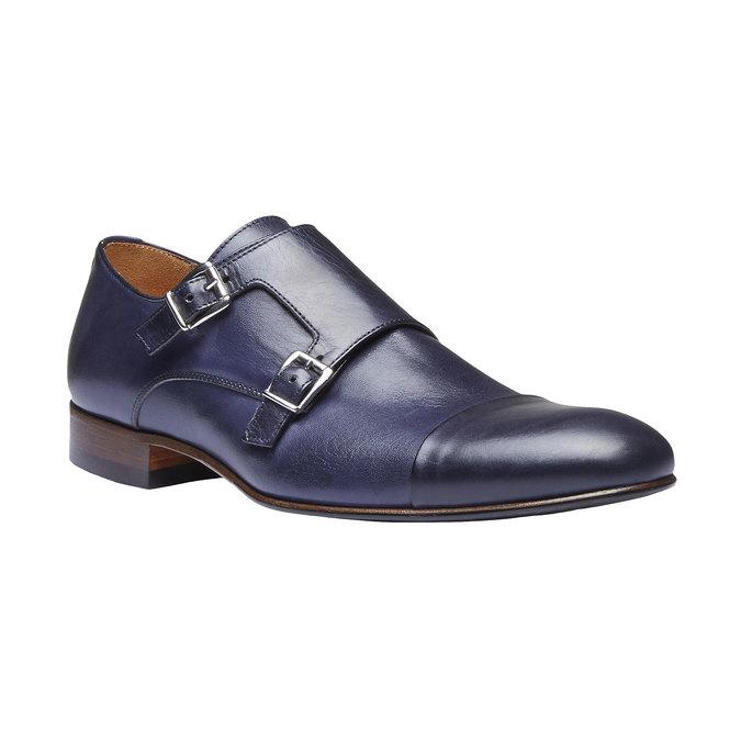 Monk Shoes en cuir pour homme shoemaker, Violet, 814-9144 - 13