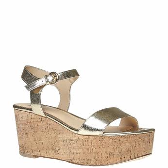 Sandale dorée à plateforme bata, Jaune, 761-8528 - 13
