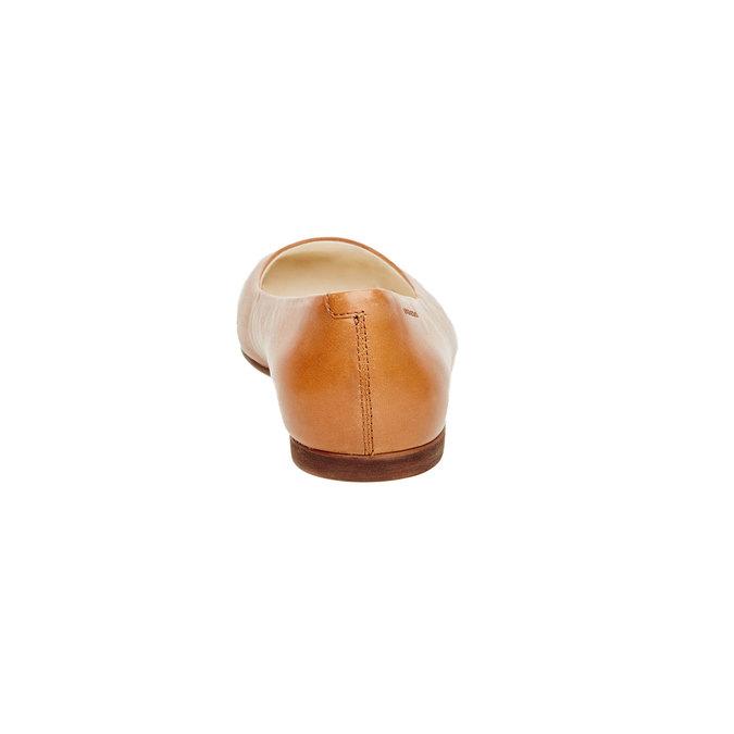 Ballerine en cuir pour femme vagabond, Brun, 514-3101 - 17