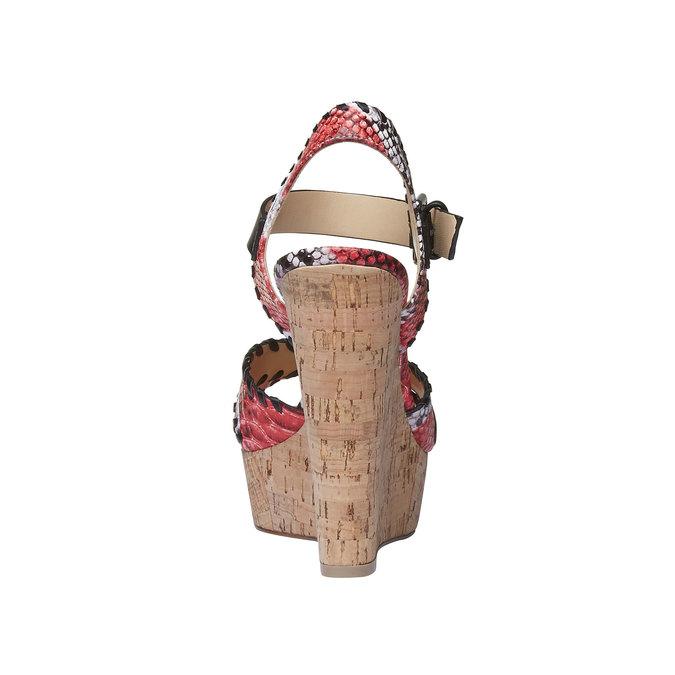 Sandale à plateforme pour femme bata, Rouge, 761-5527 - 17